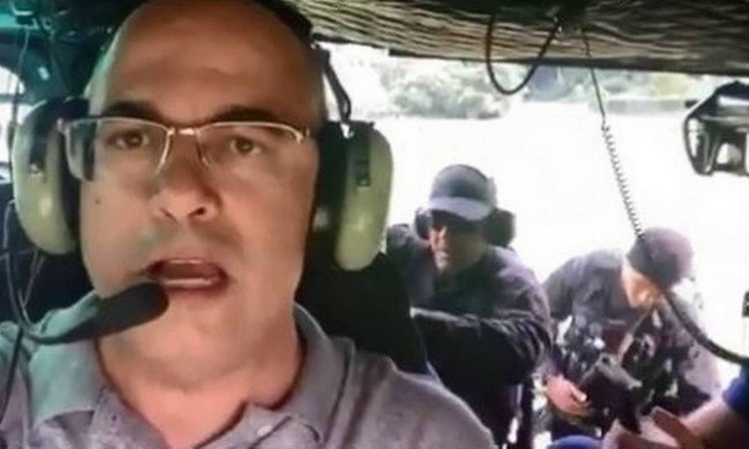 Governador do Rio, Wilson Witzel, participa de operação policial em Angra dos Reis Foto: Reprodução