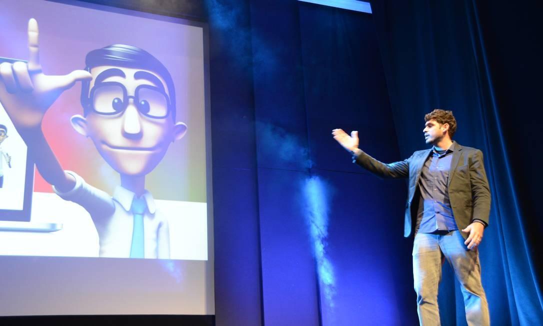 O Hugo é um avatar criado pela Hand Talk para traduzir o português para Libras Foto: Divulgação