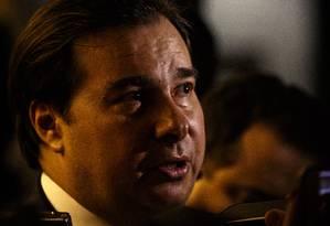 Presidente da Câmara, Rodrigo Maia, respondeu a questão de ordem Foto: Daniel Marenco / Agência O Globo
