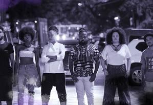 Menezzes (à esquerda), Késia, Andressa, França, Mery e Vidigal: militantes negros Foto: Bruno Kaiuca / Agência O Globo