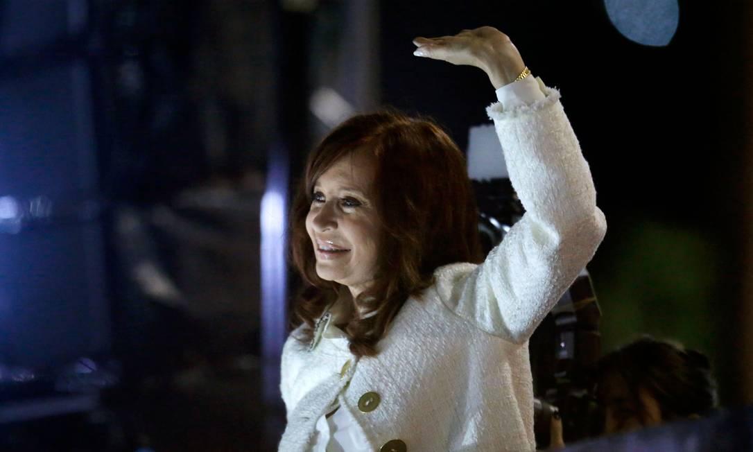 Ex-presidente argentina, Cristina Kirchner, durante o lançamento de 'Sinceramente' Foto: EMILIANO LASALVIA / AFP