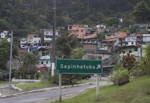 A comunidade Sapinhatuba Foto: Márcia Foletto / Agência O Globo / Arquivo