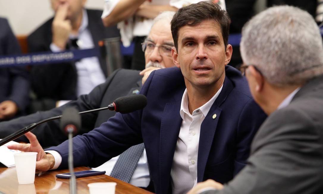 Deputado Luiz Lima (PSL-RJ), durante reunião da Comissão de Seguridade Social e Família Foto: Bruno Peres / Divulgação/PSL (04/04/2019)