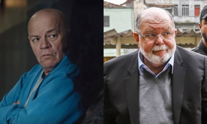 Tom Carvalho (Carlos Meceni) e o empreiteiro Léo Pinheiro Foto: Arte O Globo
