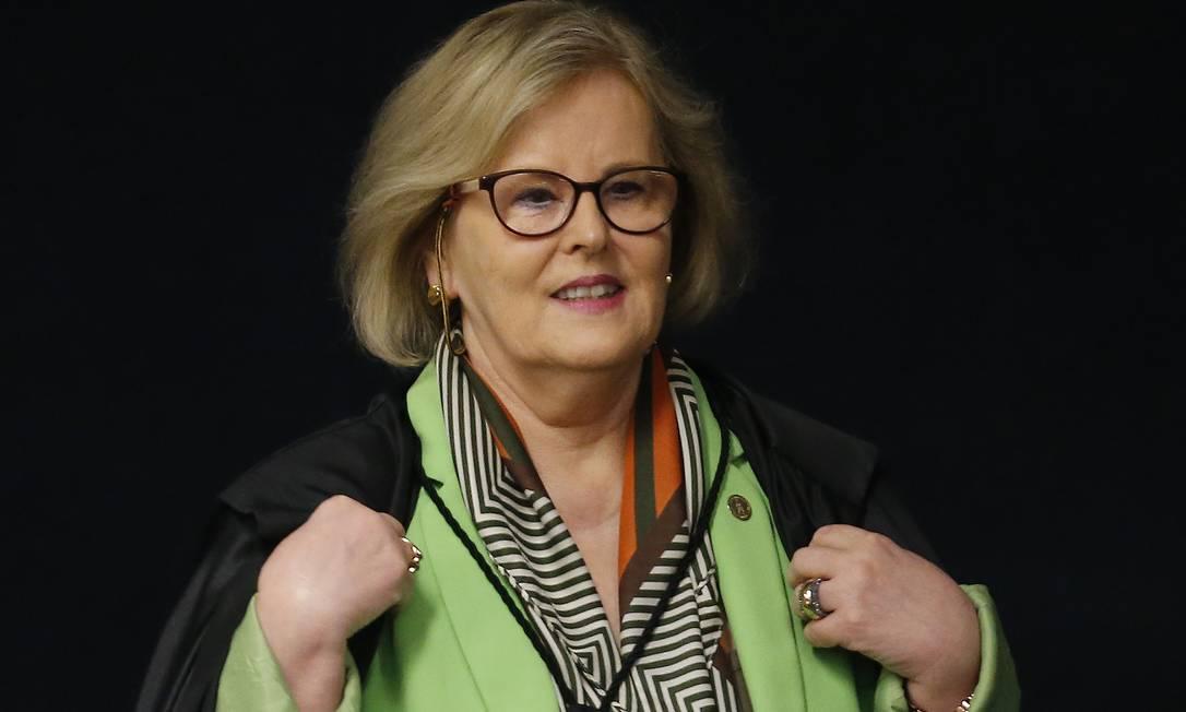 A ministra do Supremo Tribunal Federal (STF) Rosa Weber Foto: Jorge William / Agência O Globo
