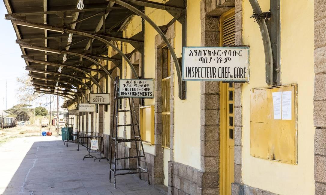 A plataforma da antiga da estação de trem de Dire Dawa, construída pelos franceses há mais um século Foto: MARCUS WESTBERG / NYT