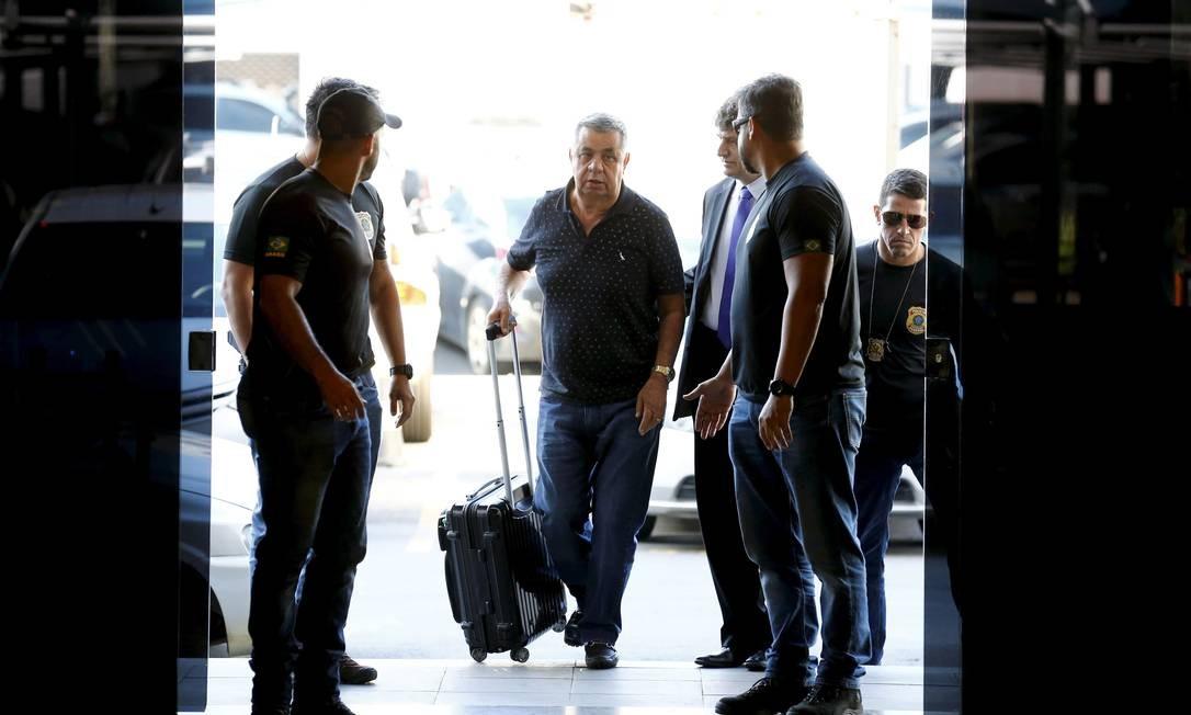 """O deputado estadual Jorge Picciani (MDB) foi preso no dia 14 de novembro de 2017, na operação """"Cadeia Velha"""", que revelou um esquema de corrupção na Alerj Foto: Pablo Jacob / Agência O Globo"""