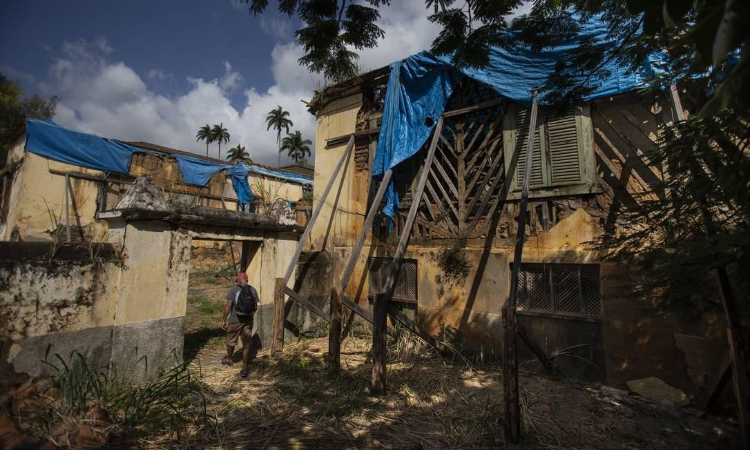 Casa do Barão de Vassouras sofre com abandono Foto: Alexandre Cassiano / Agência O Globo