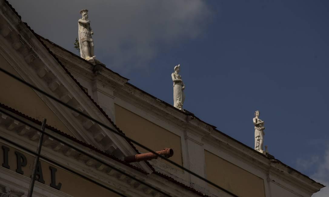 Casa do Barão de Ribeirão, já em obras de restauro Foto: Alexandre Cassiano / Agência O Globo
