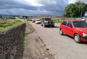 Carros voltam a trafegar na fronteira entre Brasil e Venezuela, reaberta nesta sexta-feira Foto: Divulgação/Operação Acolhida