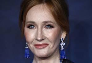 """J.K. Rowling na premiére de """"Animais Fantásticos: Os crimes de Grindelwald"""", em Londres, 2018 Foto: John Phillips / Getty Images"""