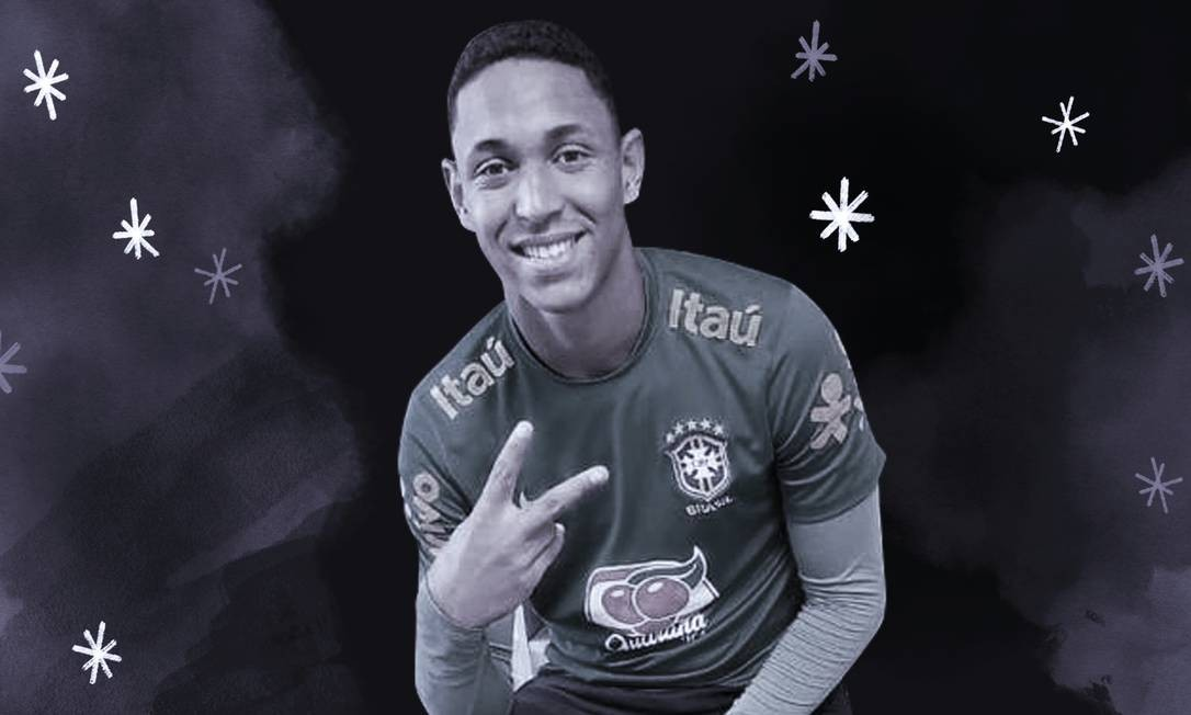Christian Esmério, goleiro da base do Flamengo Foto: Arte O Globo
