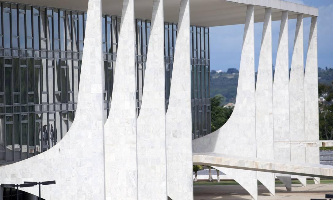 Presidência alega que palácio tem 'vulnerabilidade' Foto: Jorge William / Agência O Globo
