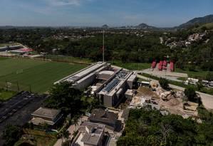 Ninho do Urubu volta a ser palco de treinos do sub-14 rubro-negro Foto: Brenno Carvalho / Agência O Globo