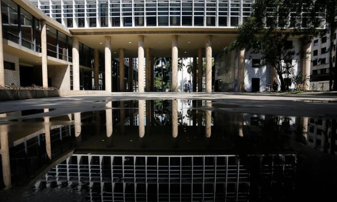 Marca: os brises-soleils do Palácio Gustavo Capanema, símbolo da arquitetura moderna no país Foto: Pablo Jacob / Agência O GLOBO
