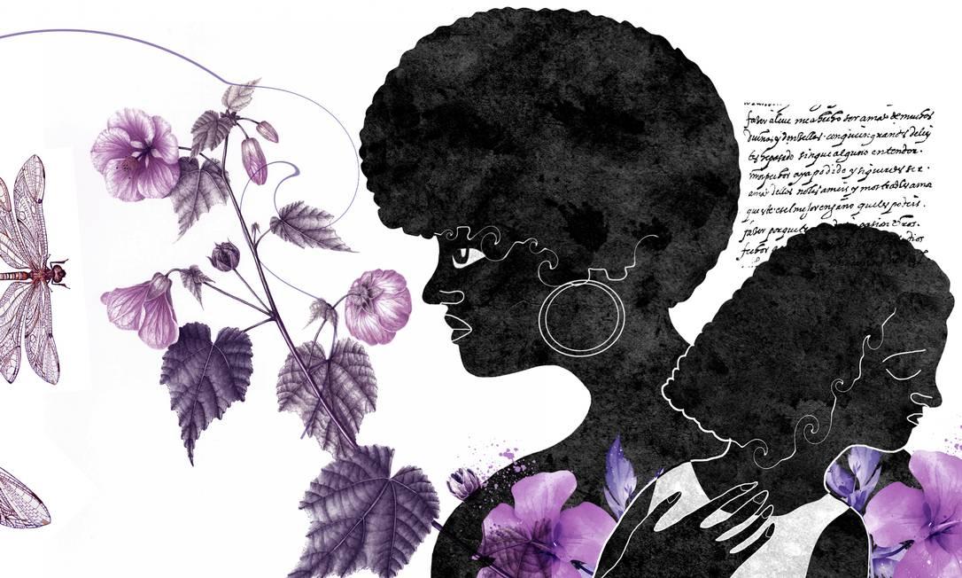 Além dos cuidados com alimentação, moradia, saúde e estudo, as mães de crianças negras precisam tornar o filho forte suficiente para sobreviver a uma sociedade racista Foto: Arte de André Mello