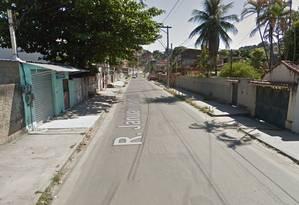 Ataque foi feito na rua Januário Barbosa, onde quatro homens foram baleados e um morreu Foto: Reprodução