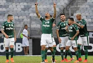 Com vitória sobre o Atlético, Palmeiras se tornou líder Foto: WASHINGTON ALVES / REUTERS