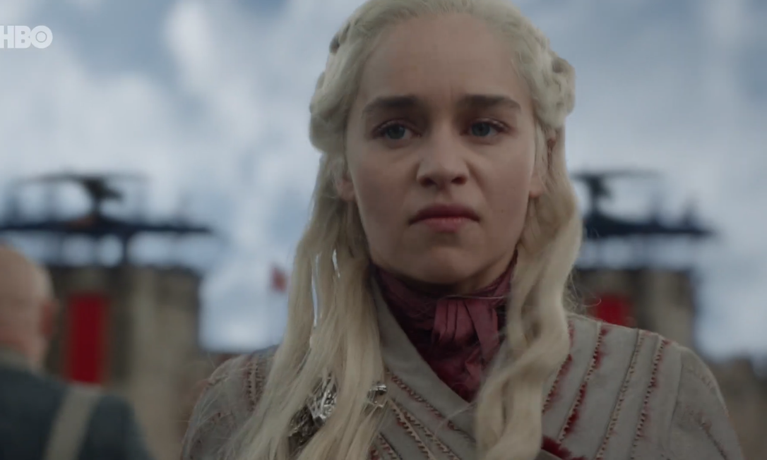 Emilia Clarke como Daenerys Targaryen em 'Game of thrones' Foto: Divulgação