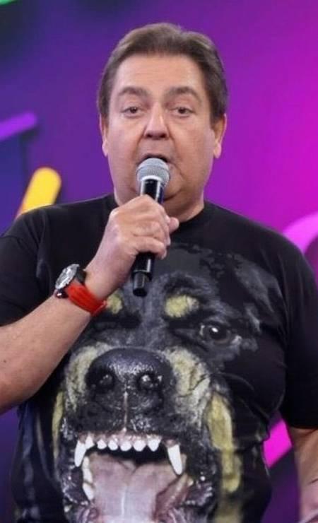 Faustão com camiseta Givenchy Foto: Reprodução/ TV Globo