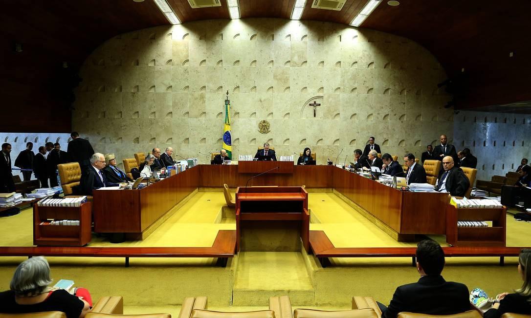 Plenário do Supremo Tribunal Federal Foto: Jorge William / Agência O Globo