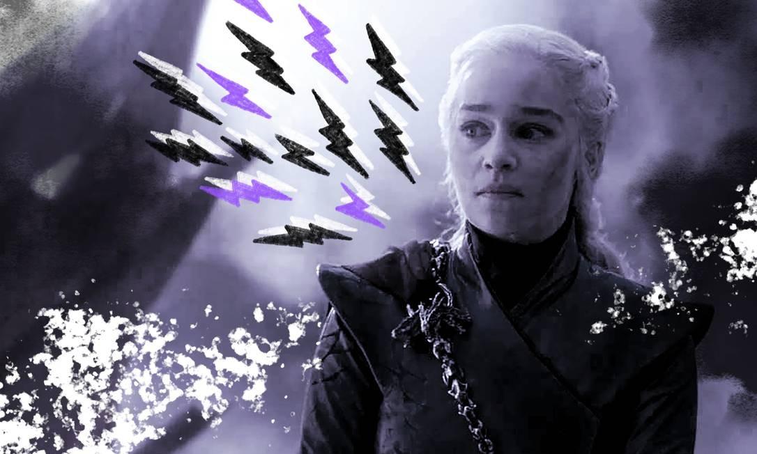 A virada de Daenerys nos últimos dois episódios não foi bem recebida por boa parte dos fãs da série Foto: Arte sobre foto reprodução