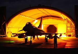 Avião de caça Eurofighter, desenvolvido por um programa conjunto envolvendo governos do Reino Unido, Alemanha, Itália e Espanha Foto: Divulgação / Divulgação