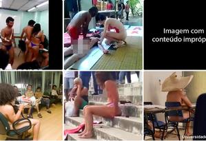 Imagens mostrando universitários nus foram compartilhadas fora de contexto no WhatsApp Foto: Reprodução