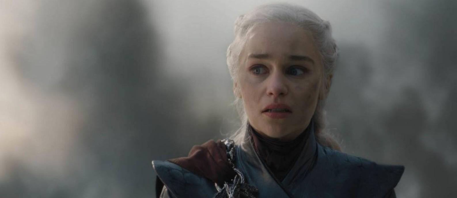 Daenerys em 'Game of thrones': após último episódio, fãs especulam se Arya não irá matar a rainha Foto: Divulgação
