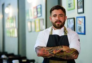O chef Bruno Vaz Foto: Divulgação