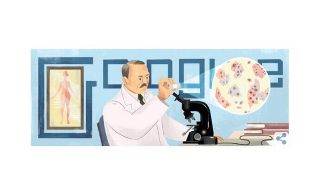 Médico grego foi homenagado no Doodle do Google. Foto: Reprodução