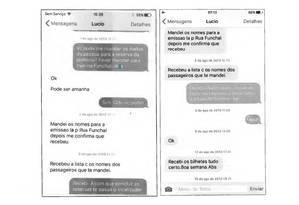 Mensagens trocadas entre dono da Gol Henrique Constantino e operador Lúcio Funaro para acertar propina Foto: Reprodução