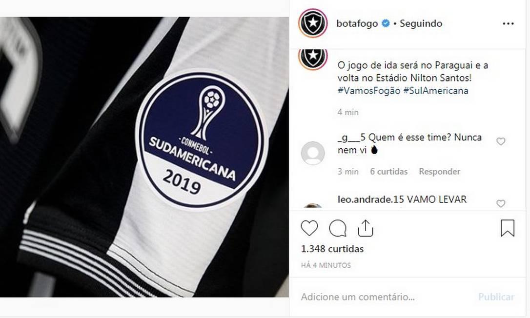 Torcedor corneta rival do Botafogo nas redes sociais Foto: Reprodução