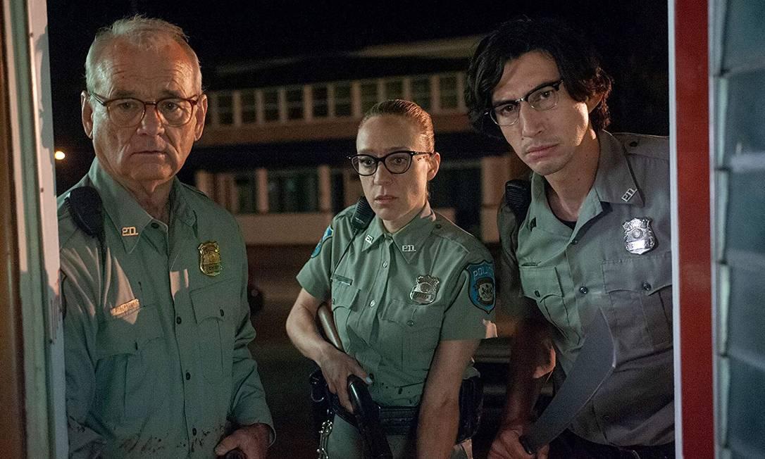 Bill Murray, Chloë Sevigny e Adam Driver em cena de 'Os mortos não morrem' Foto: Divulgação