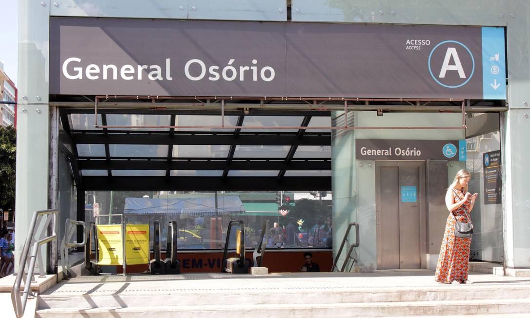 Estação General Osório, do metrô Foto: Paulo Nicolella / Agência O Globo