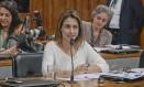 A senadora Soraya Thronicke, na Comissão de Direitos Humanos Foto: Waldemir Barreto/Agência Senado/13-05-2019