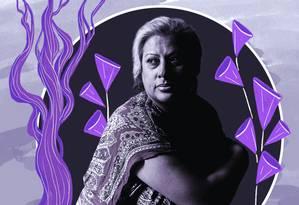Indianara tem 30 anos de ativismo pelos direitos das pessoas LGBTI Foto: Arte de Nina Millen sofre foto de Divulgação de Bruno Ryfer