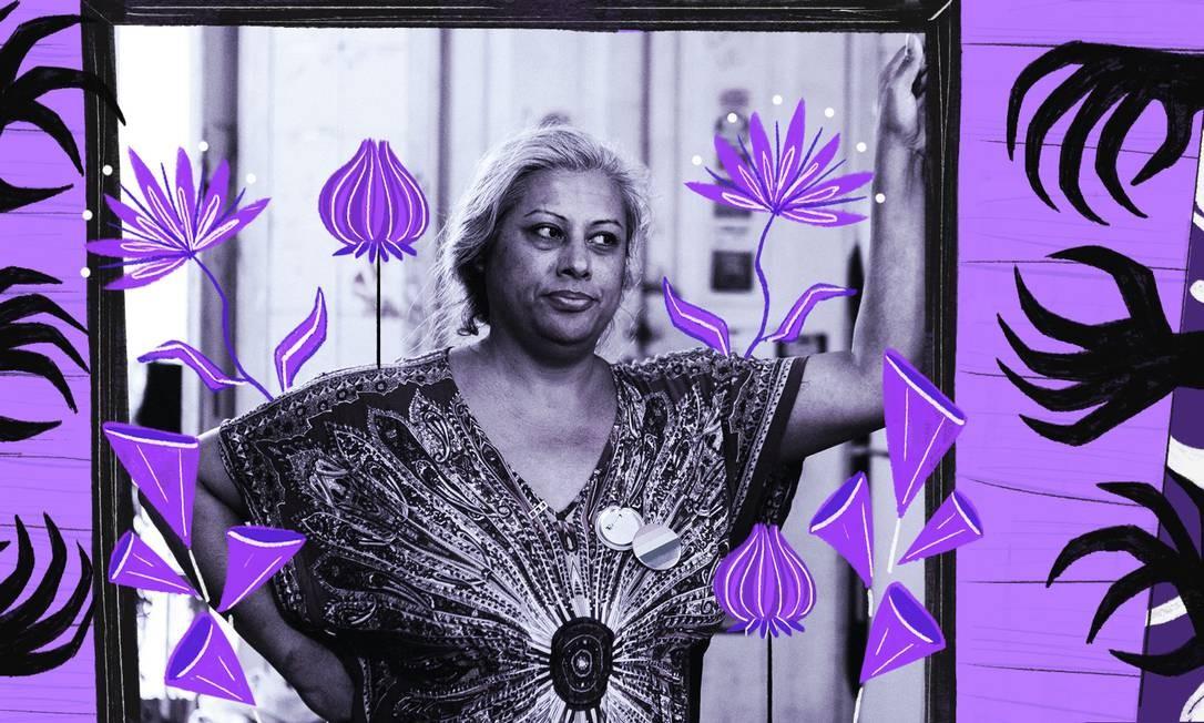 Indianara tem vida retratada em filme que mostra sua luta pela população trans Foto: Arte de Nina Millen sofre foto de Divulgação de Bruno Ryfer