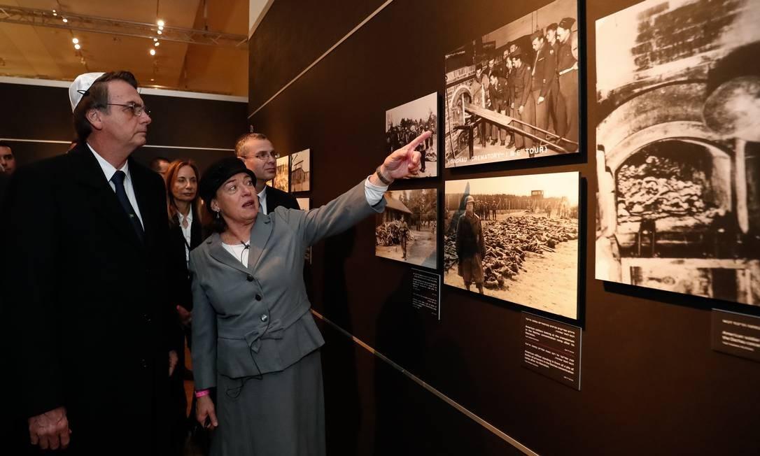 Jair Bolsonaro visita exposição de fotografia no Centro Mundial de Memória do Holocausto, em Jerusalém Foto: Alan Santos 02-04-2019 / PR