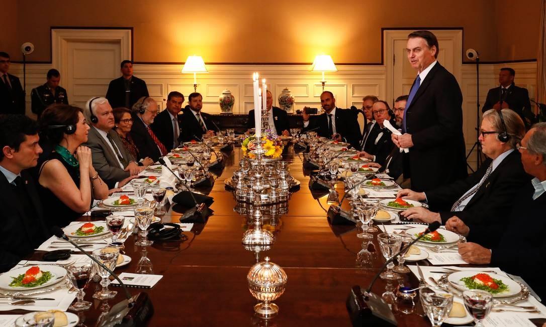 (Washington, DC - EUA 17/03/2019) Palavras do Presidente da República Jair Bolsonaro. Foto: Alan Santos/PR Foto: Alan Santos 17-03-2019 / PR