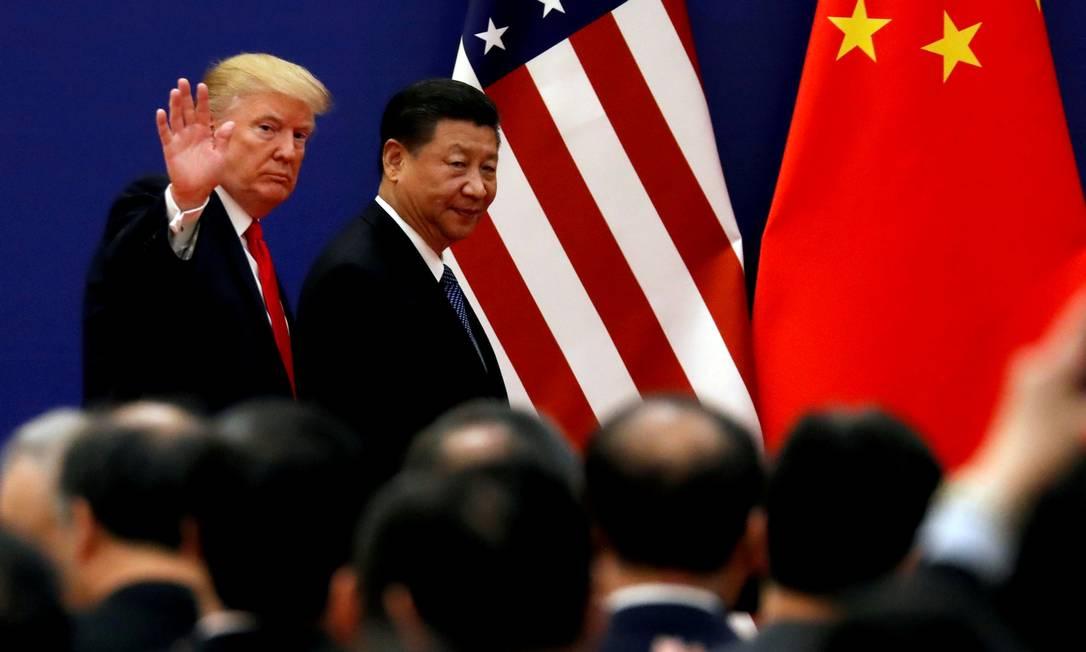 Trump e o presidente chinês Xi Jinping em encontro em Pequim em 2017. Foto: Damir Sagolj / REUTERS