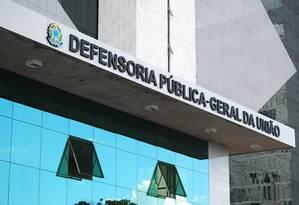 Prédio da Defensoria Pública da União, em Brasília Foto: Agência O Globo