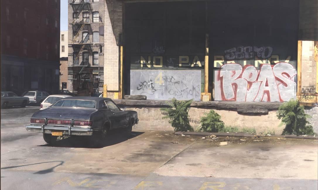 'No Parking', de John Salt: parece foto, mas é pintura Foto: Hugh Gilbert / Divulgação/Hugh Gilbert