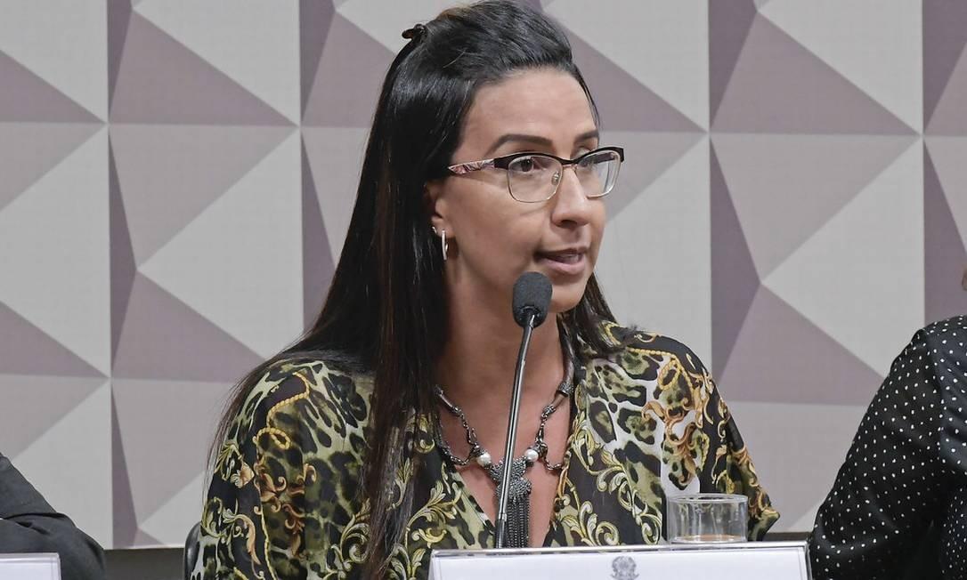 A vice-presidente da Ordem dos Advogados do Brasil do Distrito Federal (OAB/DF), Cristiane Damaceno, participou da audiência Foto: Waldemir Barreto / Agência Senado