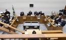 Ministros da Sexta Turma do STJ, durante julgamento do habes corpus do ex-presidente Michel Temer Foto: Lucas Pricken/STJ
