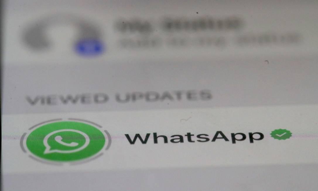 O WhatsApp pede que usuários atualizem o aplicativo para corrigir vulnerabilidade recém-descoberta Foto: JUSTIN SULLIVAN / AFP
