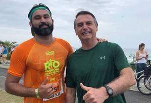 Léo Índio e o presidente Jair Bolsonaro Foto: Reprodução Facebook