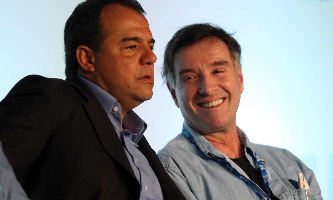 O ex-governador Sérgio Cabral e o empresário Eike Batista Foto: Marcelo Carnaval
