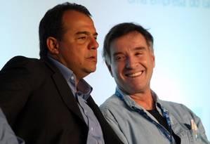 O ex-governador Sérgio Cabral e o empresário Eike Batista Foto: Marcelo Carnaval / Agência O Globo