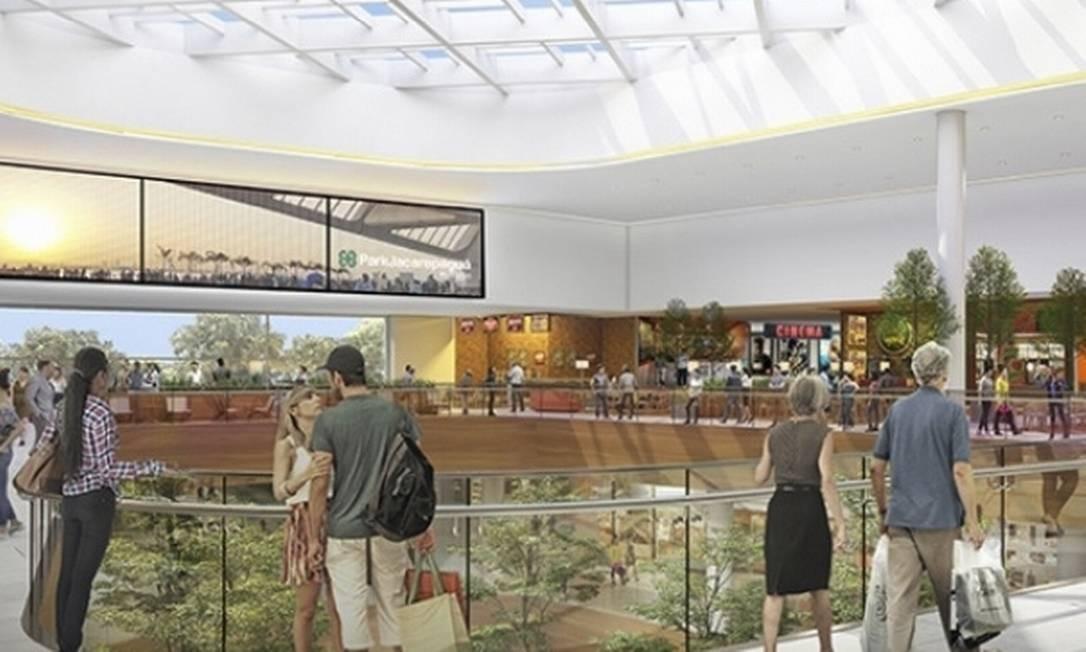 Com previsão de inauguração para 2020, o shopping terá supermercado, centro de eventos multiuso e academia Foto: Divulgação / Multiplan